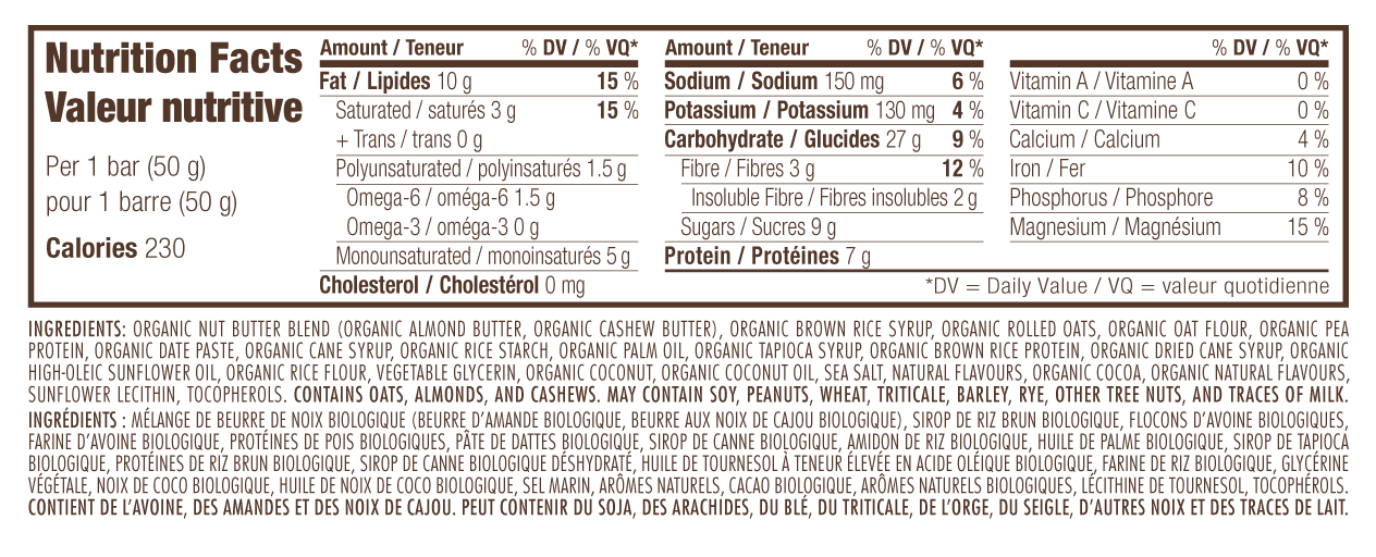 Coconut Almond Butter Nutritional Facts