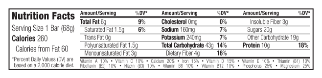 Chocolate Almond Fudge Nutritional Facts