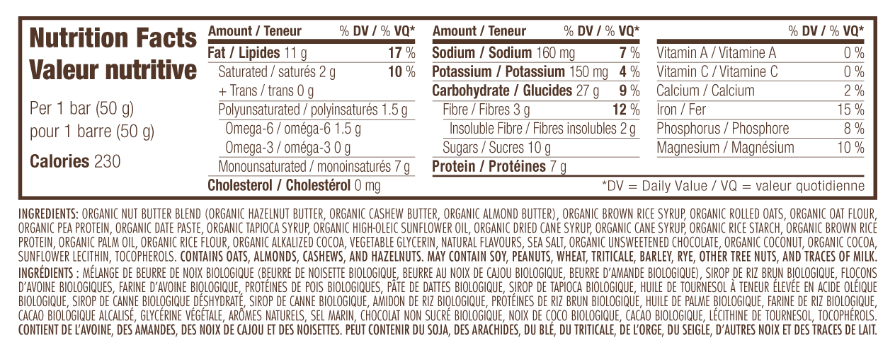 Chocolate Hazelnut Butter Nutritional Facts