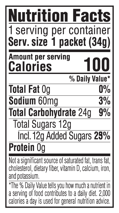 Mocha Flavor Nutritional Facts