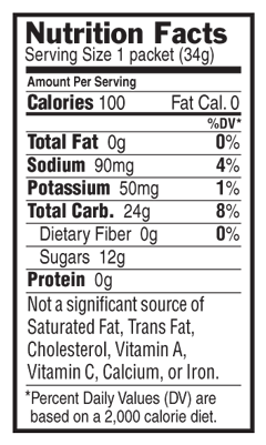 Vanilla Nutritional Facts