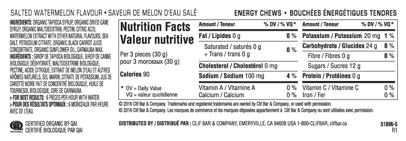 Melon d'Eau Sale Nutritional Facts