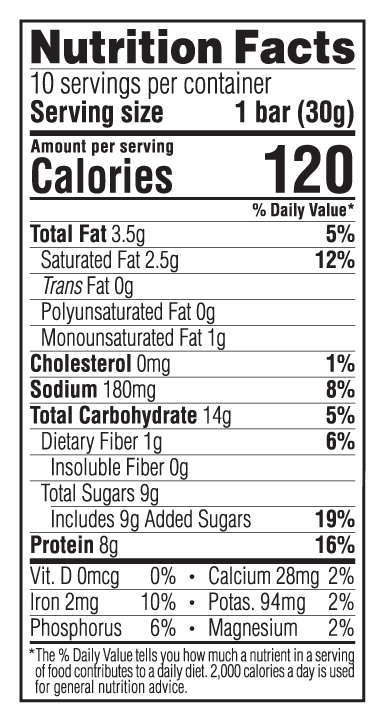 Chocolate Chip Cookie Dough Minis Nutritional Facts
