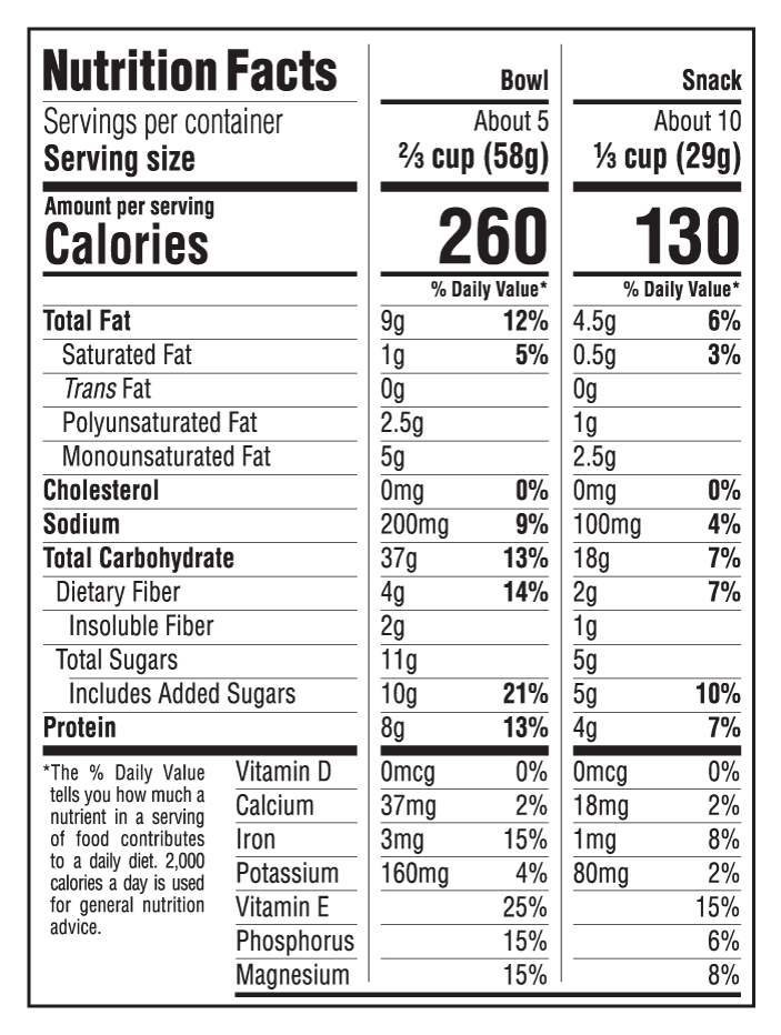 Cinnamon Almond Nutritional Facts