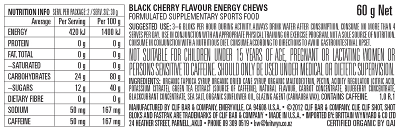Black Cherry Nutritional Facts