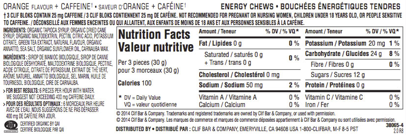 d'Orange Nutritional Facts
