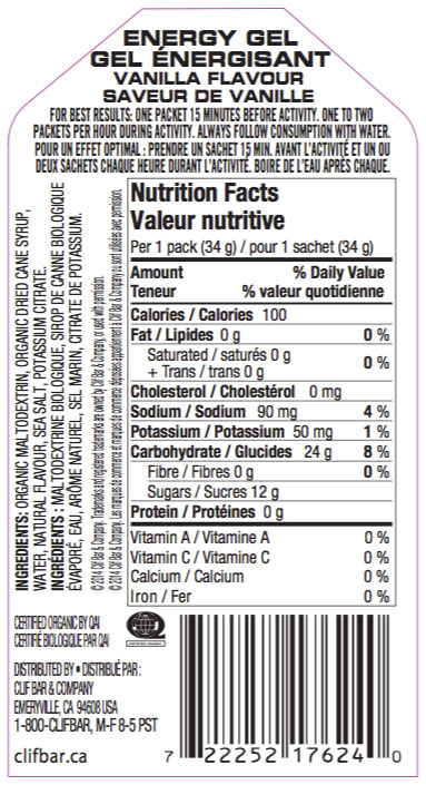 Vanille Nutritional Facts