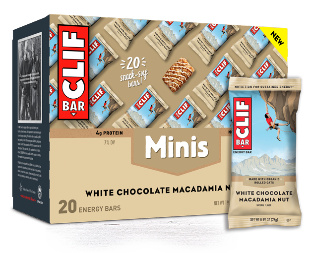 White Chocolate Macadamia Nut Flavor Minis packaging