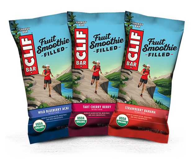 CLIF FRUIT SMOOTHIE FILLED VARIETY 12-PACK packaging