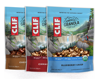 CLIF Energy Granola Variety Pack, 3 Bags packaging