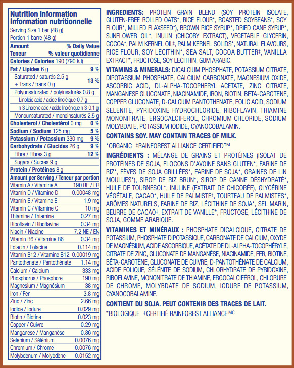 Guimauve et Graham Nutritional Facts