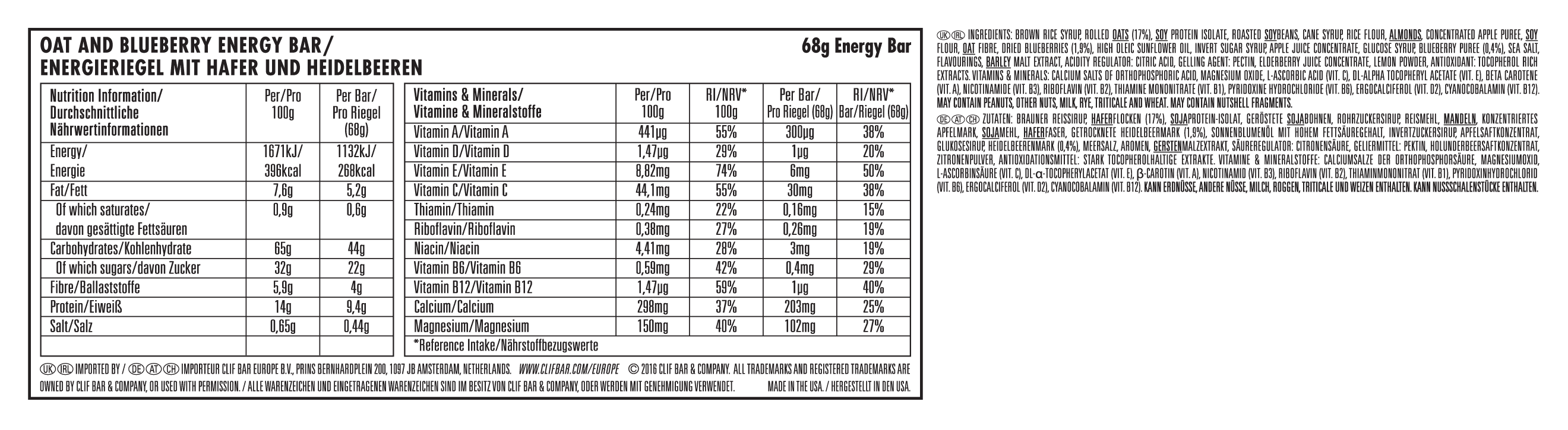 Blueberry Crisp Nutritional Facts