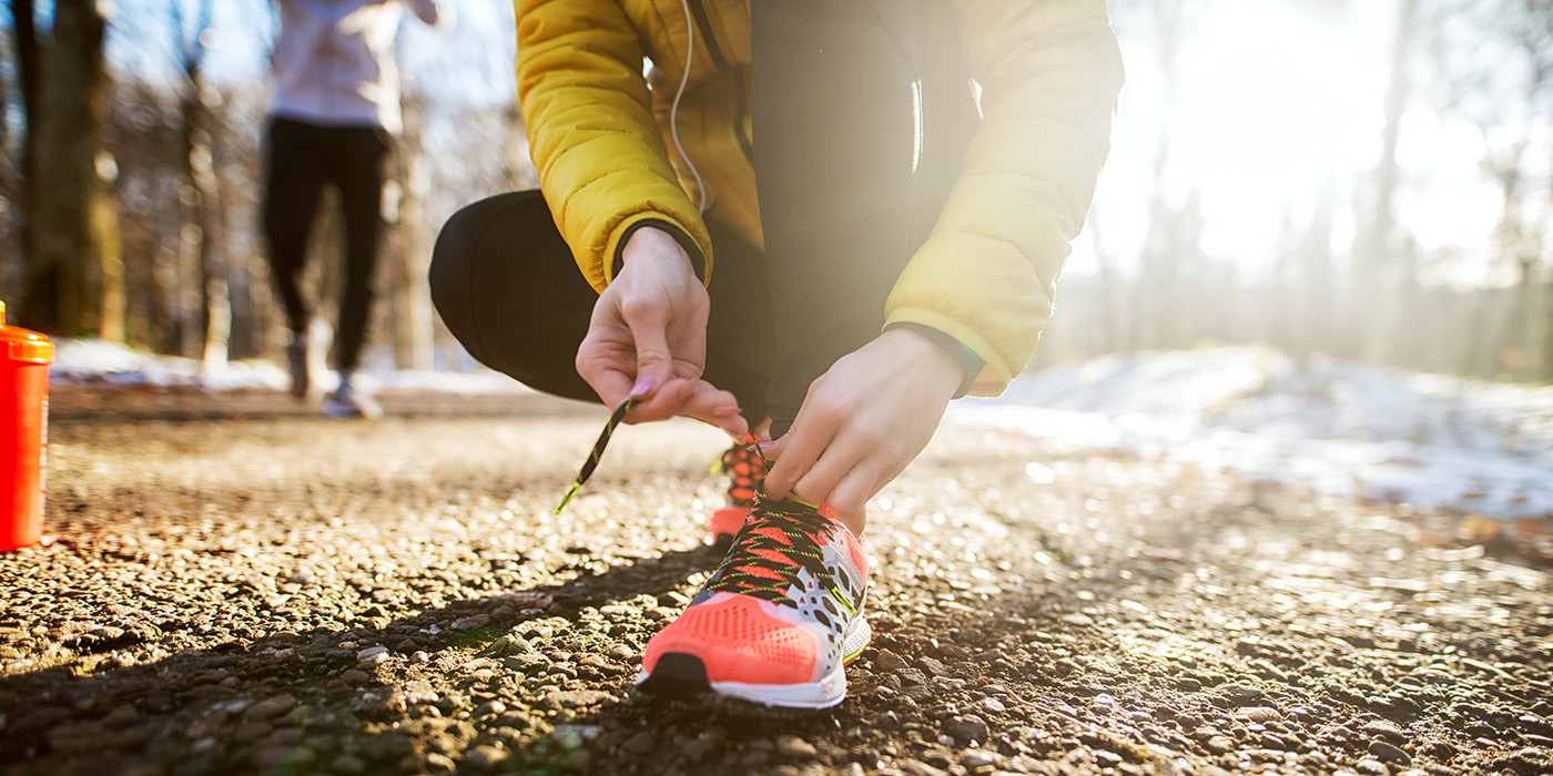 Choosing shoes for cold weather running