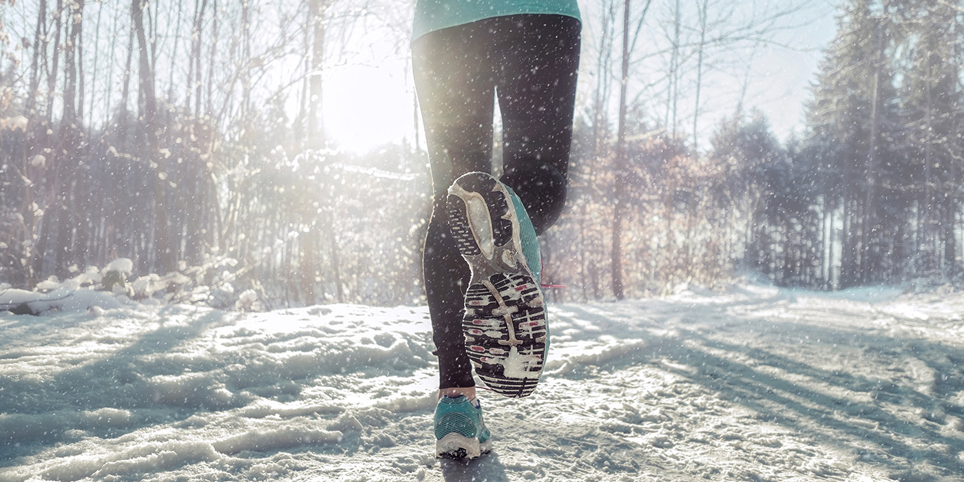 Cold weather running shoes