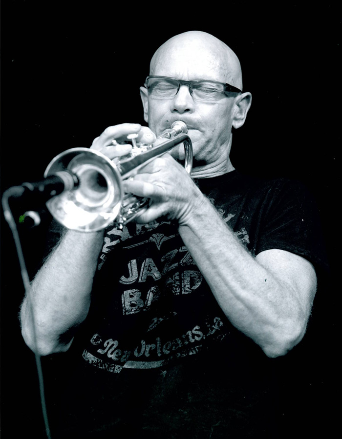 Gary Erickson playing the trumpet