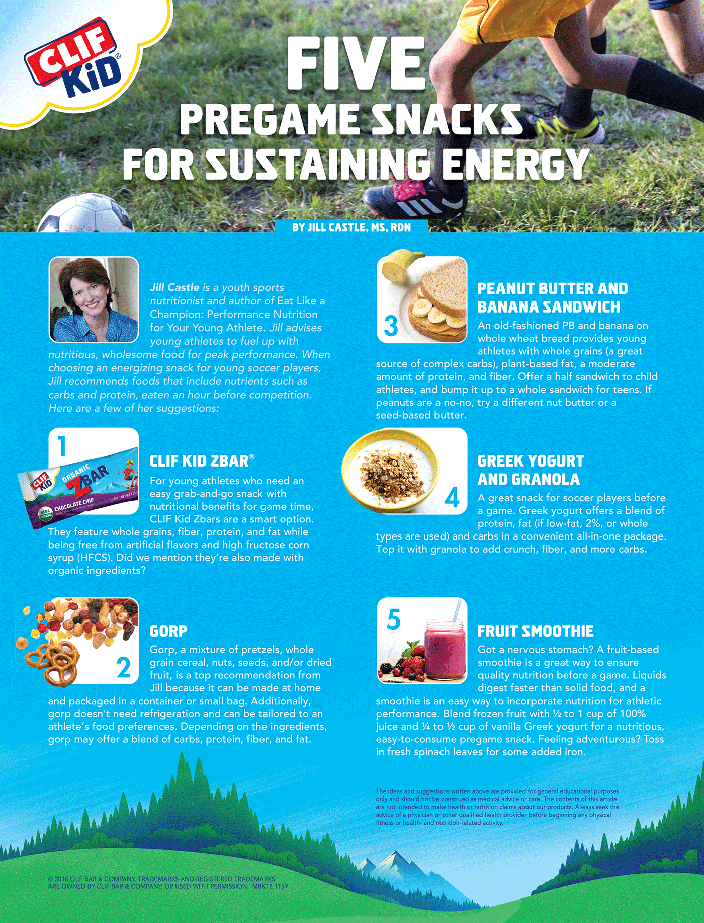 five pre game snacks for sustaining energy